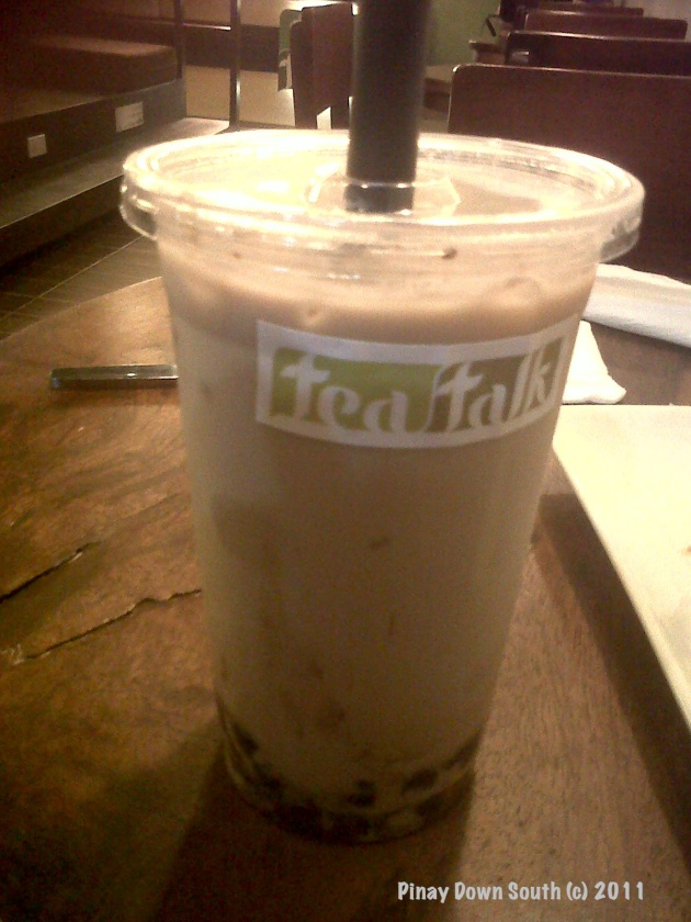 Chocolate Milk Tea with Tapioca Pearls