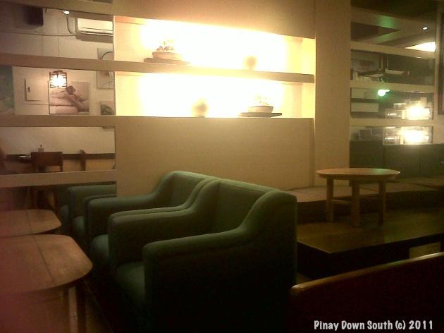 Furniture and decor inside Tea Talk